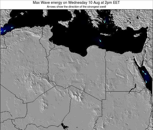 Libya Max Wave energy on Saturday 25 Oct at 8pm CEST