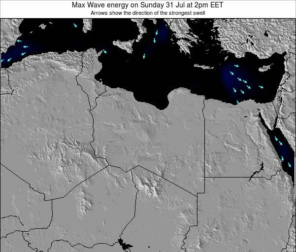 Libya Max Wave energy on Saturday 29 Aug at 2pm EET