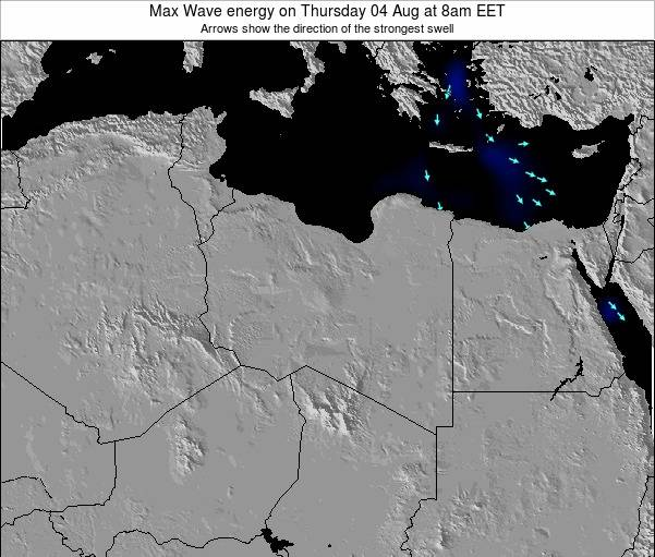 Libya Max Wave energy on Sunday 27 Apr at 2am CEST
