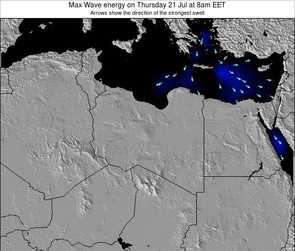 Libya Max Wave energy on Saturday 26 Jul at 2am CEST