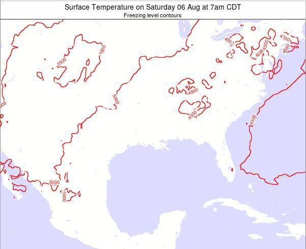 Arkansas Surface Temperature on Wednesday 12 Mar at 1pm CDT map