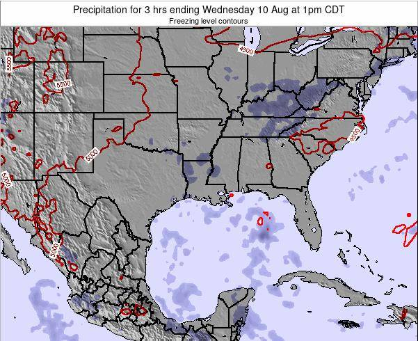 Louisiana Precipitation for 3 hrs ending Friday 24 May at 7pm CDT