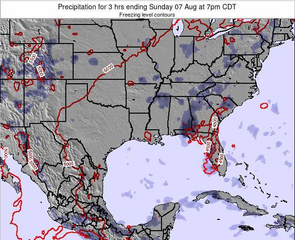 Louisiana Precipitation for 3 hrs ending Tuesday 17 Dec at 6pm CST