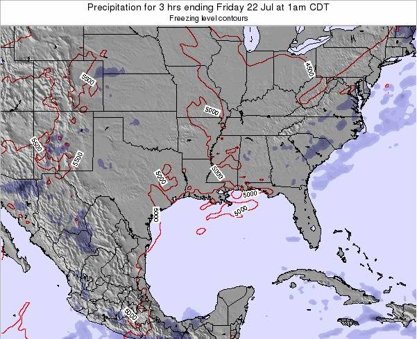 Louisiana Precipitation for 3 hrs ending Monday 27 Apr at 1am CDT