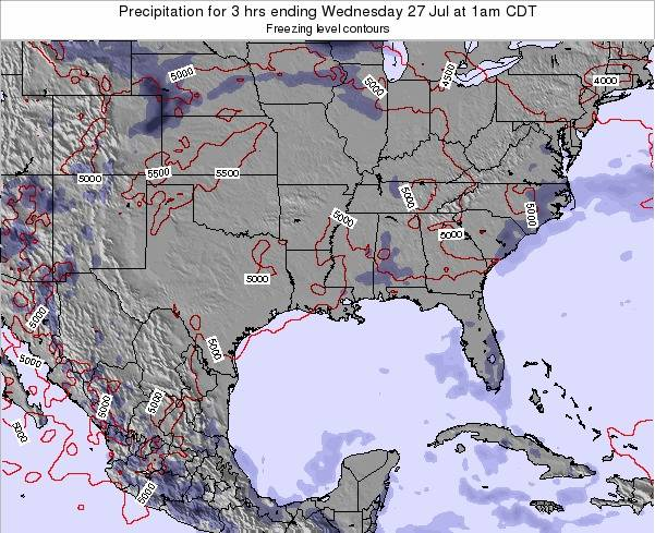 Louisiana Precipitation for 3 hrs ending Thursday 27 Nov at 6am CST