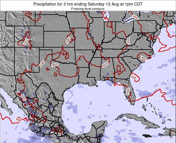 Louisiana Precipitation for 3 hrs ending Wednesday 30 Apr at 7pm CDT