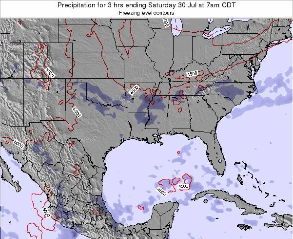 Louisiana Precipitation for 3 hrs ending Monday 16 Dec at 6am CST