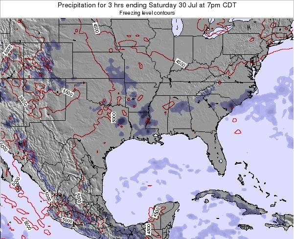 Louisiana Precipitation for 3 hrs ending Friday 31 May at 1am CDT