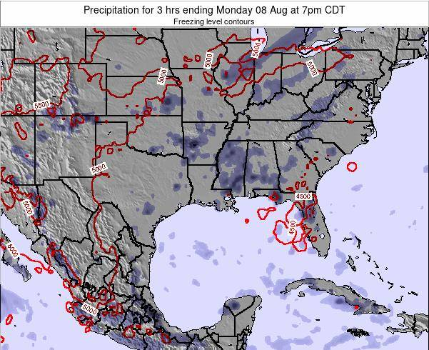 Louisiana Precipitation for 3 hrs ending Saturday 26 Apr at 1pm CDT