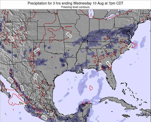 Louisiana Precipitation for 3 hrs ending Sunday 26 May at 1am CDT
