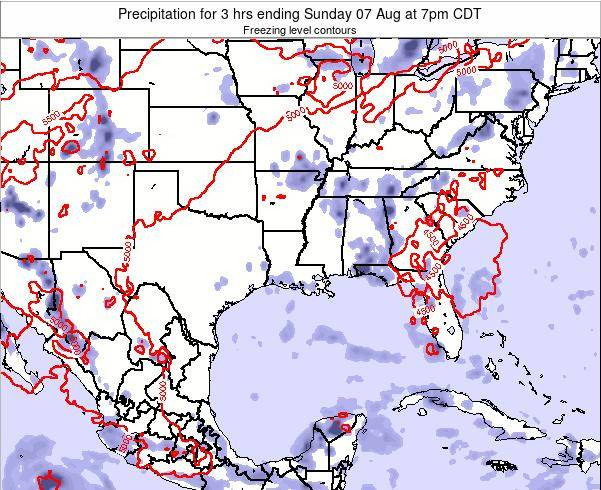 Louisiana Precipitation for 3 hrs ending Sunday 27 Apr at 1am CDT