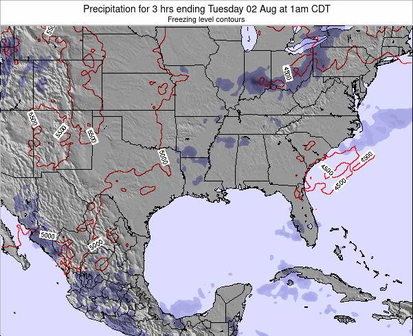 Louisiana Precipitation for 3 hrs ending Sunday 27 Jul at 7am CDT