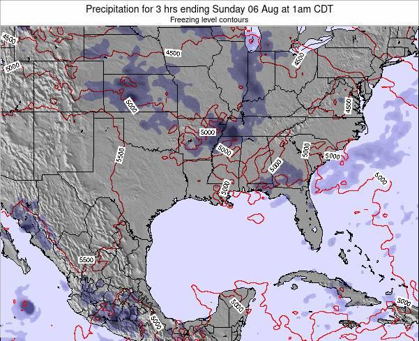 Louisiana Precipitation for 3 hrs ending Tuesday 27 Mar at 1am CDT map