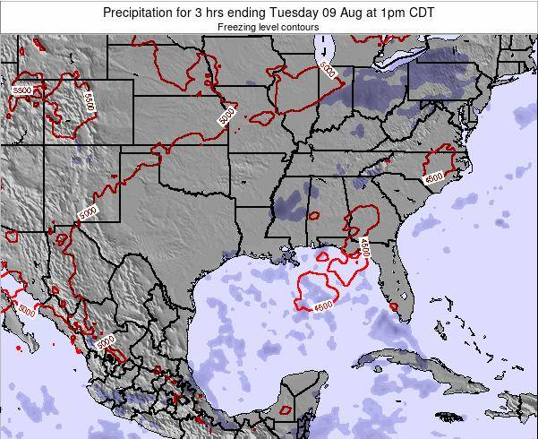 Louisiana Precipitation for 3 hrs ending Wednesday 26 Sep at 1pm CDT map