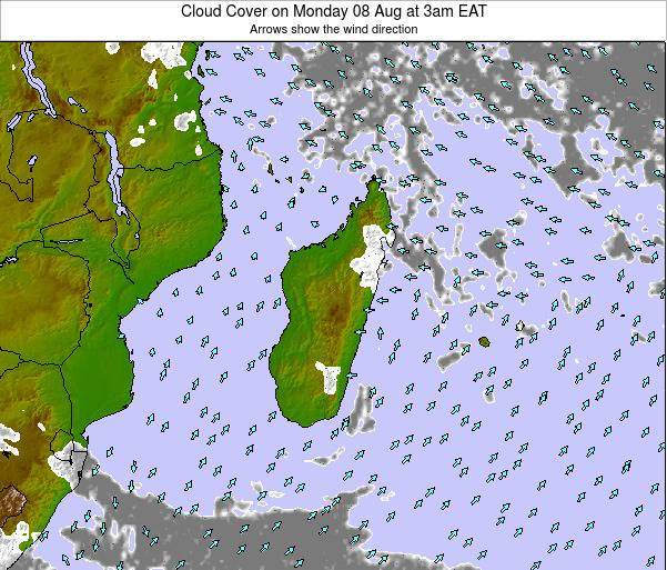 Madagascar Cloud Cover on Friday 24 May at 9am EAT