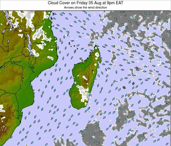 Mauritius Cloud Cover on Thursday 23 May at 3pm EAT