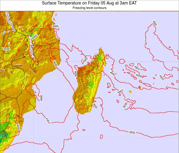 Reunion Surface Temperature on Thursday 30 Nov at 3pm EAT map
