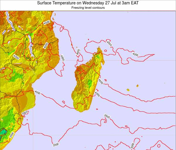 Reunion Surface Temperature on Sunday 23 Jun at 9pm EAT