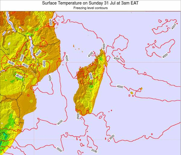 Mauritius Surface Temperature on Monday 27 May at 3pm EAT map