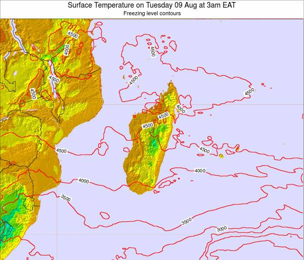 Mauritius Surface Temperature on Sunday 26 May at 3am EAT map