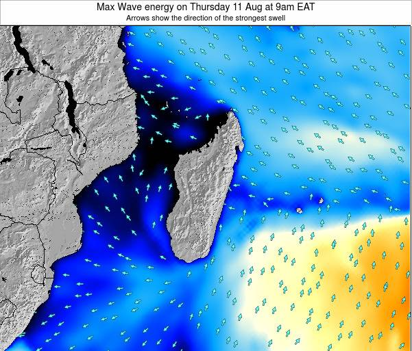 Madagascar Max Wave energy on Wednesday 29 May at 3pm EAT