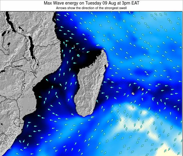 Reunion Max Wave energy on Wednesday 22 May at 3am EAT