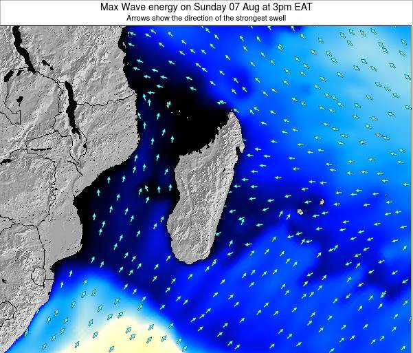 Reunion Max Wave energy on Monday 27 May at 3am EAT