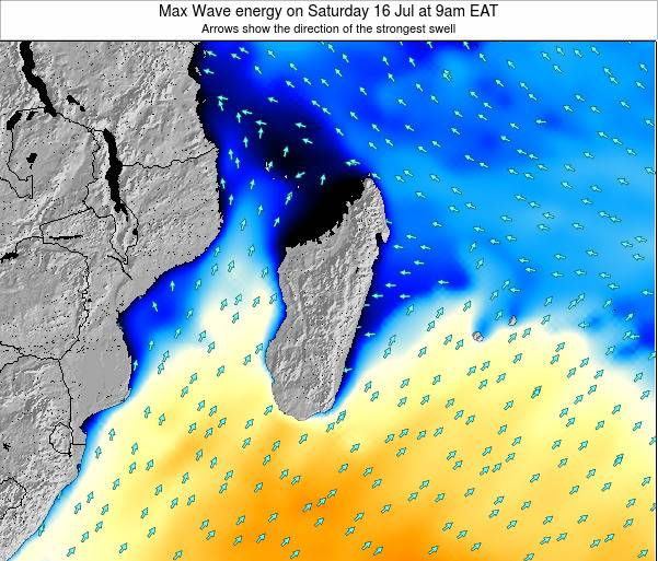 Comoros Max Wave energy on Wednesday 14 Nov at 3pm EAT map