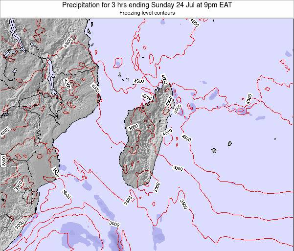 Comoros Precipitation for 3 hrs ending Wednesday 26 Sep at 9am EAT map