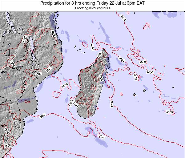 Reunion Precipitation for 3 hrs ending Friday 14 Mar at 3am EAT