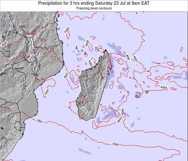 Reunion Precipitation for 3 hrs ending Thursday 02 Mar at 3pm EAT