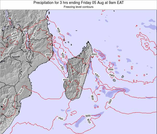 Comoros Precipitation for 3 hrs ending Sunday 28 Oct at 9am EAT map