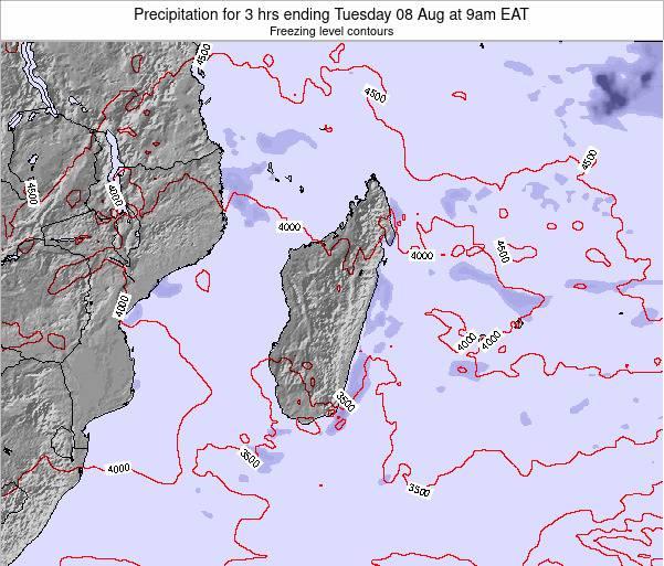 Comoros Precipitation for 3 hrs ending Thursday 28 Jun at 9pm EAT map