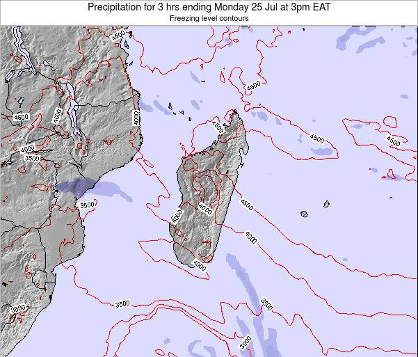 Comoros Precipitation for 3 hrs ending Monday 24 Sep at 9am EAT map