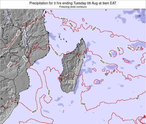 Comoros Precipitation for 3 hrs ending Sunday 24 Jun at 3am EAT map
