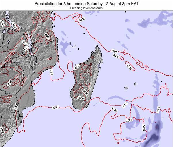 Comoros Precipitation for 3 hrs ending Tuesday 25 Sep at 9am EAT map