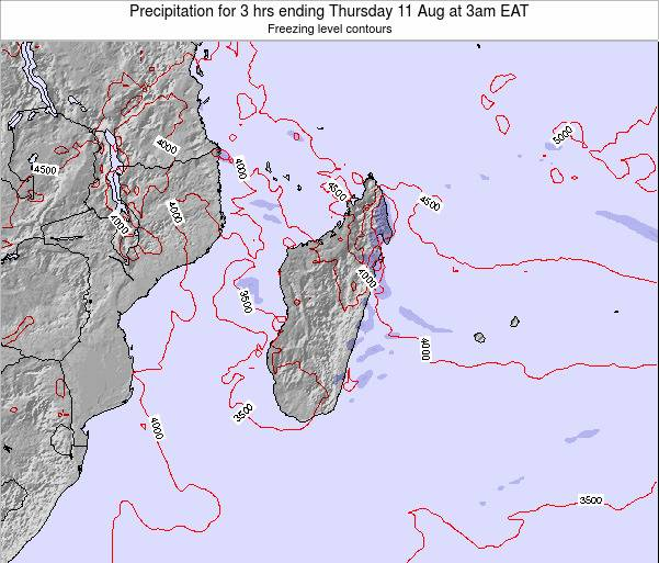 Comoros Precipitation for 3 hrs ending Thursday 28 Jun at 3pm EAT map
