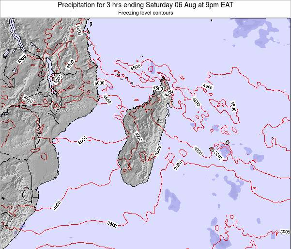 Comoros Precipitation for 3 hrs ending Wednesday 23 Jan at 9pm EAT map