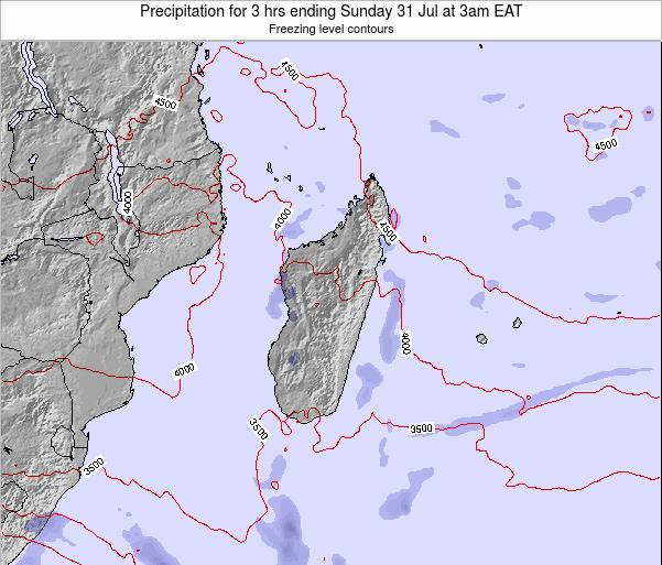 Comoros Precipitation for 3 hrs ending Wednesday 12 Dec at 3pm EAT map