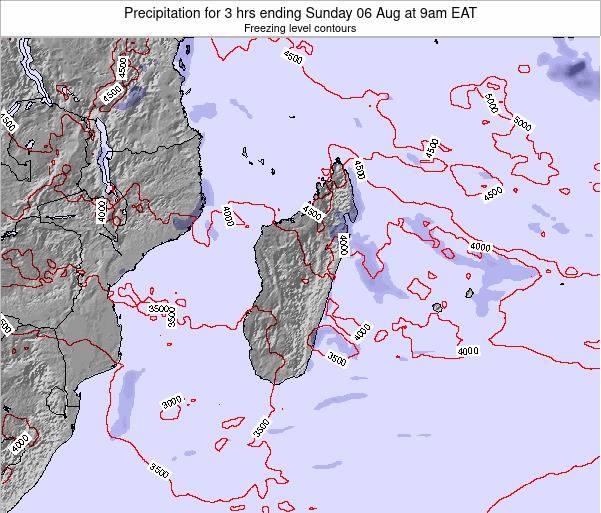 Comoros Precipitation for 3 hrs ending Wednesday 19 Sep at 9pm EAT map