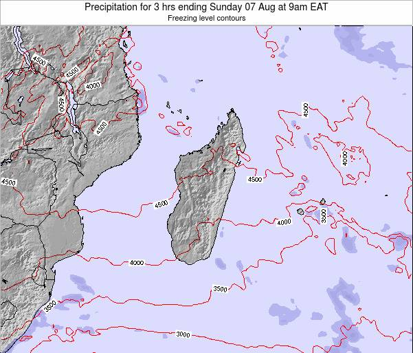 Comoros Precipitation for 3 hrs ending Tuesday 19 Jun at 3pm EAT map