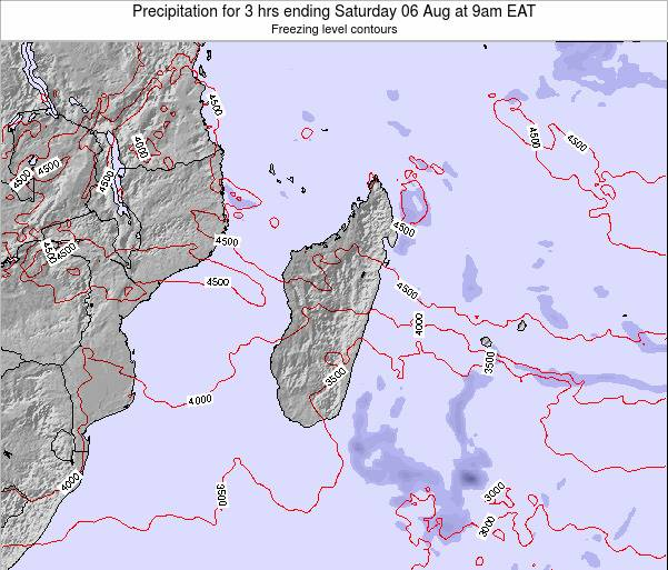 Comoros Precipitation for 3 hrs ending Thursday 20 Sep at 9am EAT map