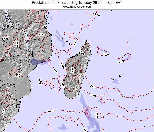 Comoros Precipitation for 3 hrs ending Monday 22 Oct at 3am EAT map
