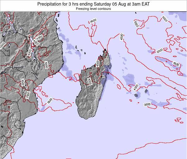 Comoros Precipitation for 3 hrs ending Wednesday 27 Jun at 3am EAT map