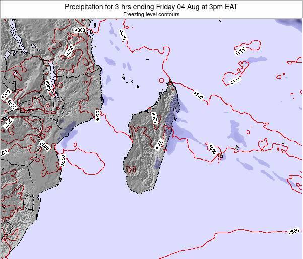 Comoros Precipitation for 3 hrs ending Friday 21 Sep at 3pm EAT map