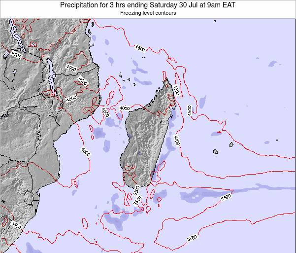 Madagascar Precipitation for 3 hrs ending Sunday 19 May at 9pm EAT