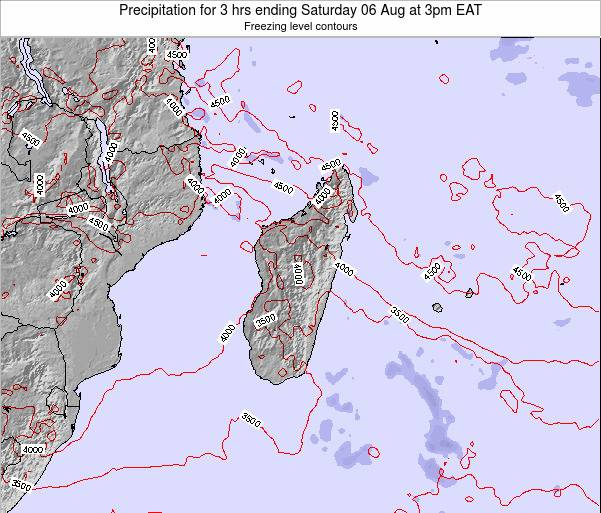 Comoros Precipitation for 3 hrs ending Tuesday 24 Apr at 9pm EAT map