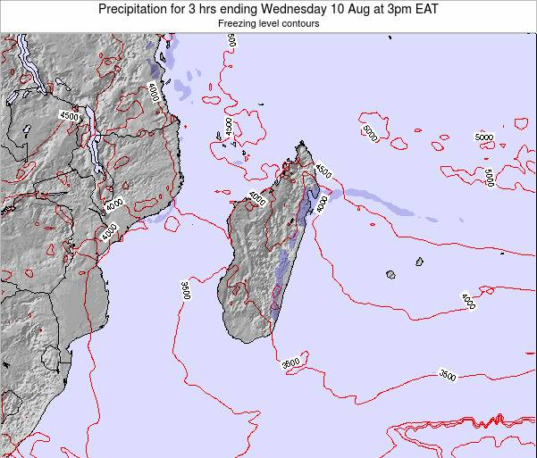 Comoros Precipitation for 3 hrs ending Saturday 22 Sep at 3pm EAT map
