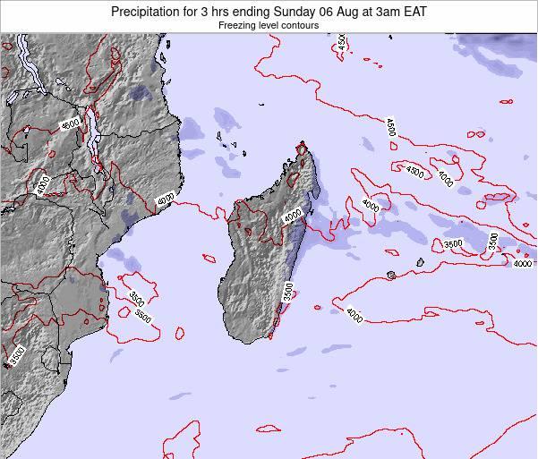 Comoros Precipitation for 3 hrs ending Wednesday 21 Mar at 9am EAT map