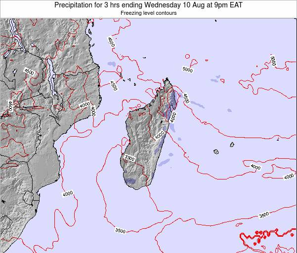 Comoros Precipitation for 3 hrs ending Saturday 20 Oct at 9pm EAT map